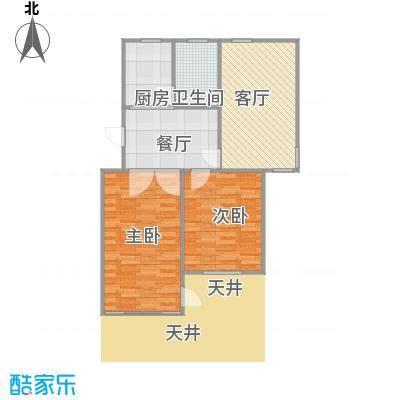 80平2房2厅带天井