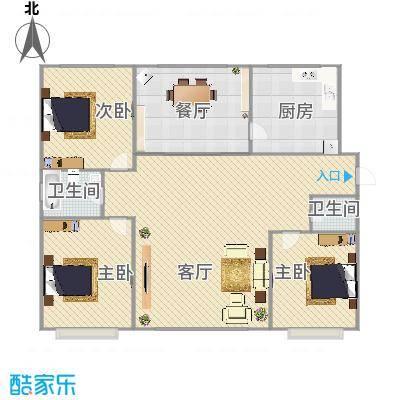 首府洋房130平米3室2厅2卫