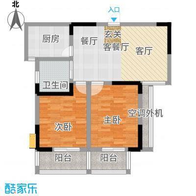 景城名郡-1户型2室1厅1卫1厨