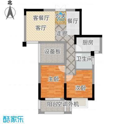 景城名郡-3户型2室1厅1卫1厨