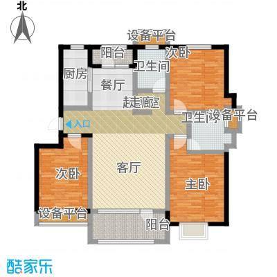 碧桂园欧洲城124.00㎡户型3室2厅2卫