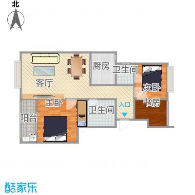 米兰诺贵都90平两房两厅D2户型