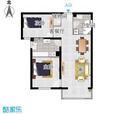 亿朋苑89.6平米A3户型