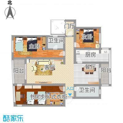 三室两厅两卫原电梯2