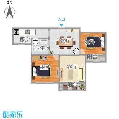 公园天下2室2厅1卫