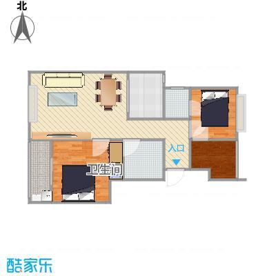 1_米兰诺贵都90平两房两厅D2户型