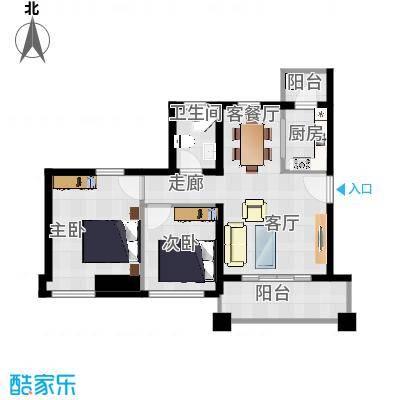 明大汇乐园5栋504房75平两室一厅