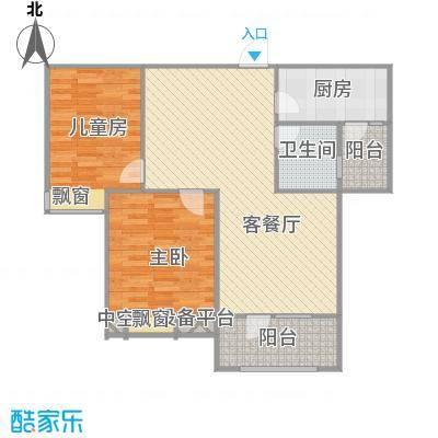 美域澜苑88平+改后户型