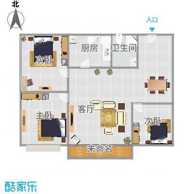 3房户型图
