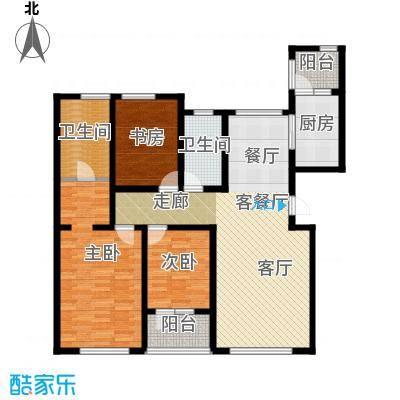 恒瑞大湖山语户型3室1厅2卫1厨