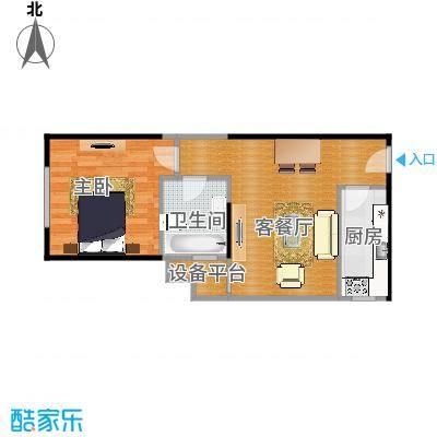 南海雅苑一居室C3户型1室1厅1卫1厨