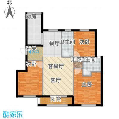 首创象墅户型3室1厅2卫1厨