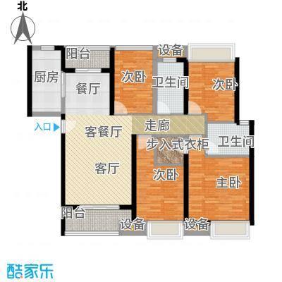 金地朗悦H户型4室1厅2卫1厨