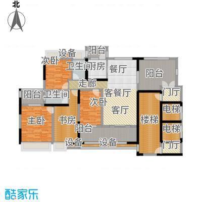 城市假日花园E区7座B6户型4室1厅2卫1厨