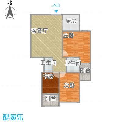 锦绣大地城C户型3室1厅2卫1厨