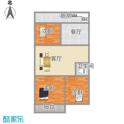 建鑫花园西户三室两厅