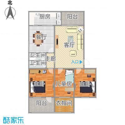 北岭三区-三室两厅