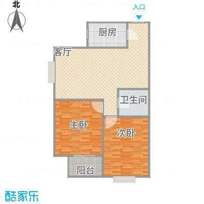 天朗西子湖87.5方A3户型两室一厅