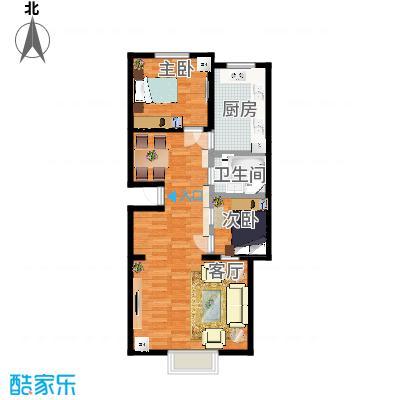 北京万润家园7层户型1室1厅1卫1厨想象中装修后的样子
