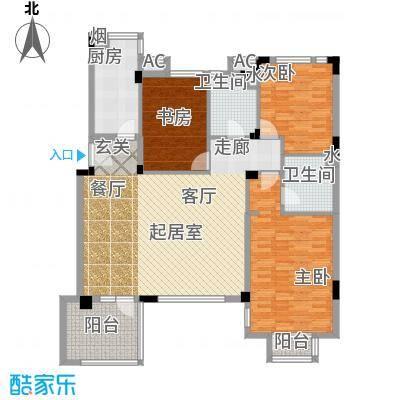 万科魅力之城138.10㎡洋房三层户型