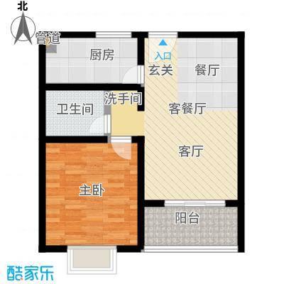 腾骐冠宸户型1室1厅1卫1厨