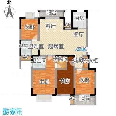 龙湖文馨苑户型4室2卫1厨
