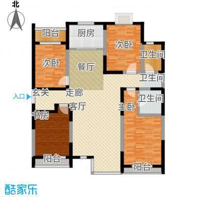 绿城・春江花月150.00㎡房型户型