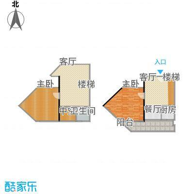 理想青年荟大厦74.76㎡F10、15户型
