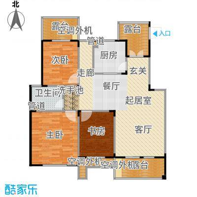 丹景廷106.00㎡花园洋房E户型