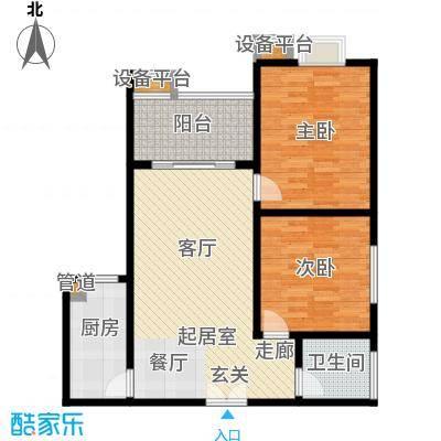 鑫远・湘府东苑鑫远a派81.07㎡B5户型