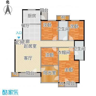 中海英伦观邸145.00㎡E3户型
