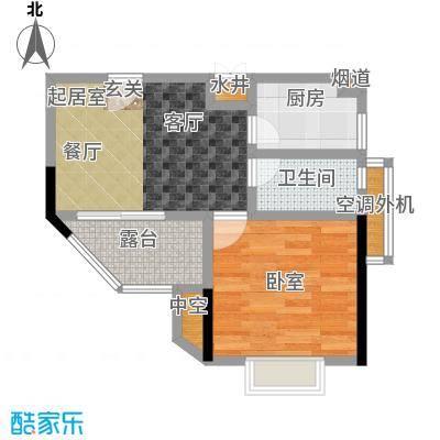 馨润尚寓45.00㎡B1座01单元户型