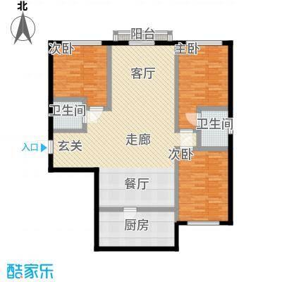 中航香水郡114.00㎡户型