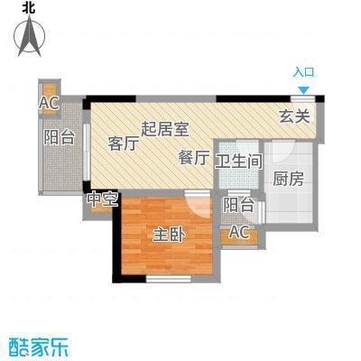 逸静・花开香地花开香地40.62㎡H户型