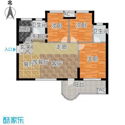 金福世家户型3室1厅2卫1厨