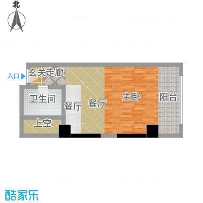 珠江时代广场54.65㎡C户型