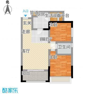 润锦・御珑山御珑山82.61㎡润锦御珑山一期5号楼标准层A3都市时尚户型