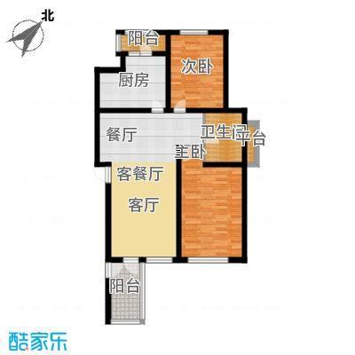 锦绣四合院89.42㎡B户型