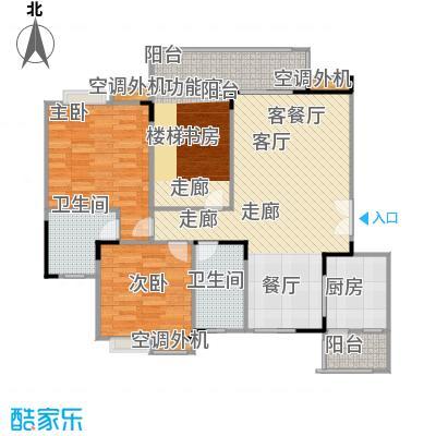 福江・名城名城86.29㎡一期3号楼1单元6层1号房2室户型