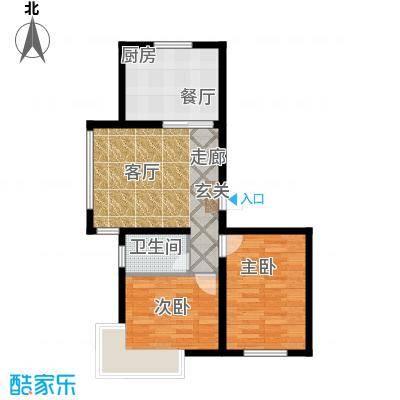 金鼎阳光苑87.00㎡B6户型