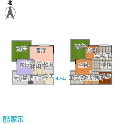 祥宏九龙明珠141.86㎡房型复式户型