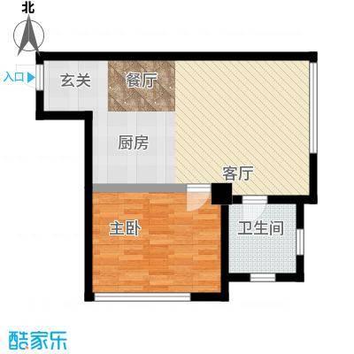 君悦长滨35.00㎡房型户型