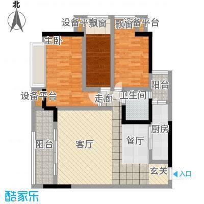 合正锦园户型3室1厅1卫1厨