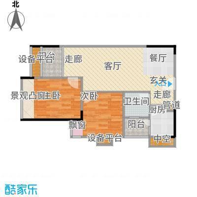 丹枫雅苑60.00㎡房型户型