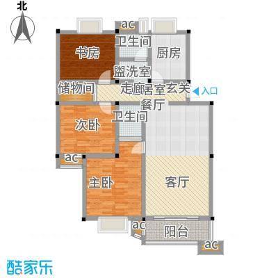月苑五村户型3室2卫1厨