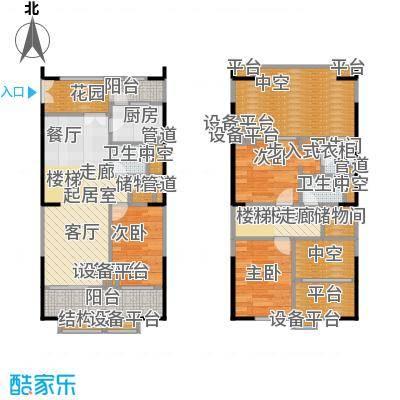 紫薇尚层96.00㎡A型结构户型