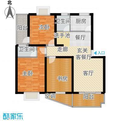 星河枫园户型3室1厅2卫1厨
