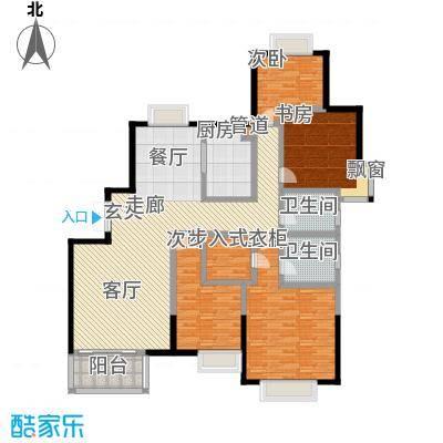 万和源居户型4室1厅2卫1厨