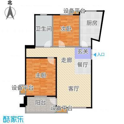 嘉业阳光城89.08㎡13号楼U3户型