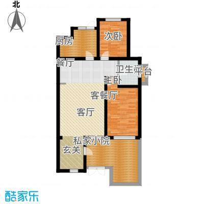 锦绣四合院92.69㎡A户型